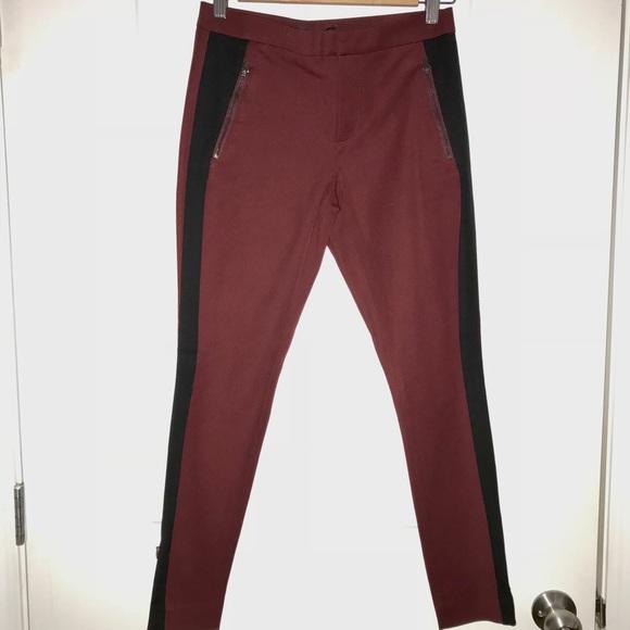 d220c9e0a2da6c Banana Republic Pants | Br Sloan Burgundy Tux Style Wankle Zip ...
